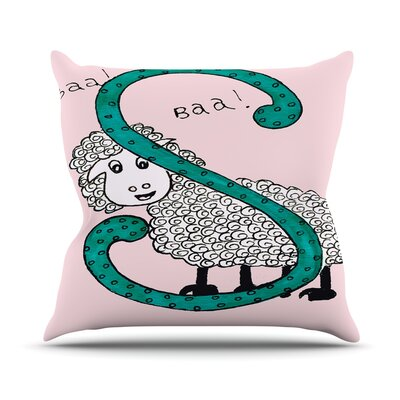 Sis for Sheep by Rosie Throw Pillow Size: 16 H x 16 W x 3 D, Color: Pink