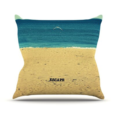Escape by Robin Dickinson Beach Sand Throw Pillow Size: 20 H x 20 W x 4 D