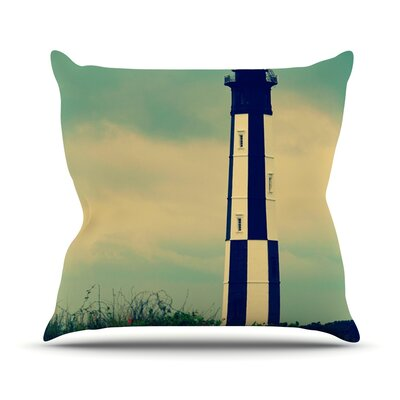 New Cape Henry by Robin Dickinson Lighthouse Throw Pillow Size: 26 H x 26 W x 5 D