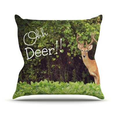 Ohh Deer by Robin Dickinson Throw Pillow Size: 18 H x 18 W x 3 D