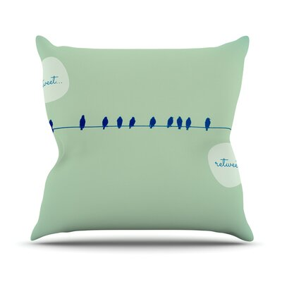 Tweeting by Robin Dickinson Throw Pillow Size: 16 H x 16 W x 3 D