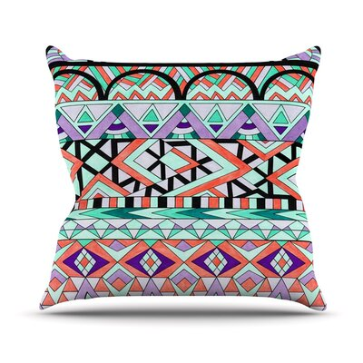 Tribal Invasion by Pom Graphic Abstract Throw Pillow Size: 16 H x 16 W x 3 D
