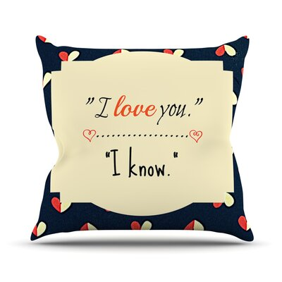 I Know by Robin Dickinson Throw Pillow Size: 20 H x 20 W x 4 D