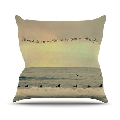 Pieces of Heaven by Robin Dickinson Beach Throw Pillow Size: 16 H x 16 W x 3 D