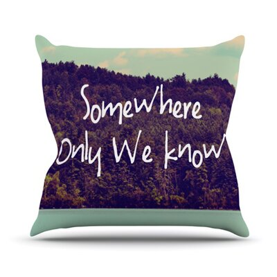 Somewhere Throw Pillow Size: 16 H x 16 W