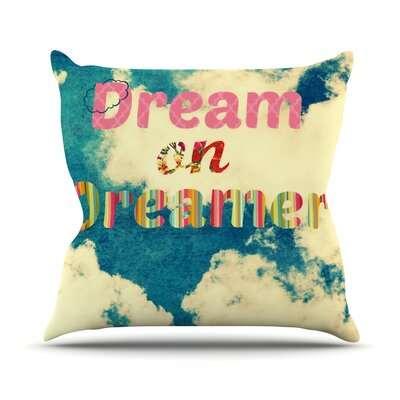Dream On by Robin Dickinson Clouds Throw Pillow Size: 26 H x 26 W x 5 D
