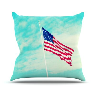 USA by Robin Dickinson Flag Throw Pillow Size: 18 H x 18 W x 3 D