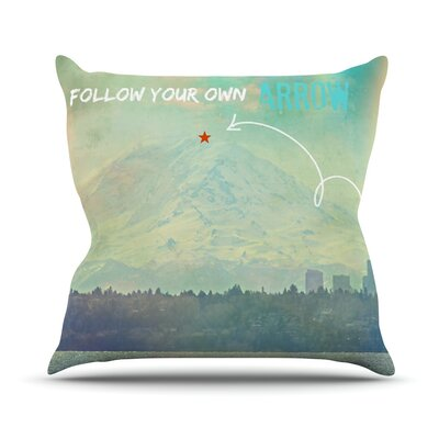 Follow Your Own Arrow by Robin Dickinson City Landscape Throw Pillow Size: 16 H x 16 W x 3 D