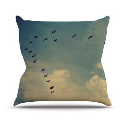 Pterodactyls by Robin Dickinson Throw Pillow Size: 20 H x 20 W x 4 D