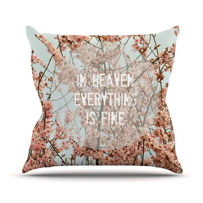 In Heaven by Robin Dickinson Cherry Blossom Throw Pillow Size: 20 H x 20 W x 4 D