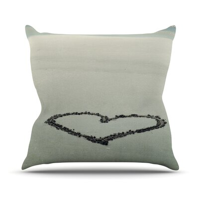 I Love The Beach by Robin Dickinson Ocean Sand Throw Pillow Size: 16 H x 16 W x 3 D