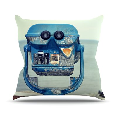 Way Out There by Robin Dickinson Ocean Throw Pillow Size: 18 H x 18 W x 3 D