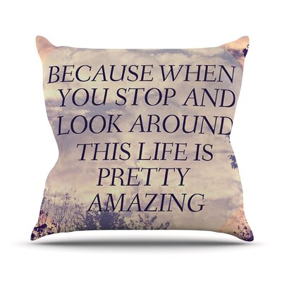 Pretty Amazing by Rachel Burbee Sky Throw Pillow Size: 18 H x 18 W x 3 D