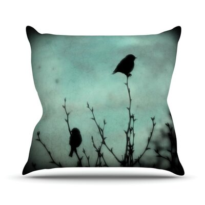 On Top by Robin Dickinson Throw Pillow Size: 18 H x 18 W x 3 D