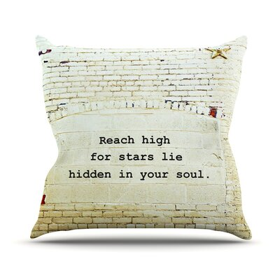 Reach High by Robin Dickinson Brick Wall Throw Pillow Size: 20 H x 20 W x 4 D