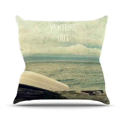 Venture Out by Robin Dickinson Boat Throw Pillow Size: 18 H x 18 W x 3 D