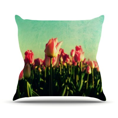 How Does Your Garden Grow by Robin Dickinson Flowers Throw Pillow Size: 26 H x 26 W x 5 D