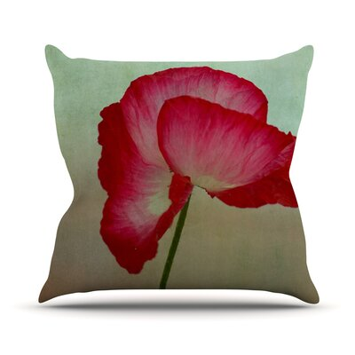 La Te Da by Robin Dickinson Poppies Throw Pillow Size: 26 H x 26 W x 5 D