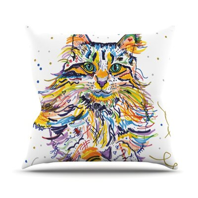 Leo Throw Pillow Size: 16 H x 16 W