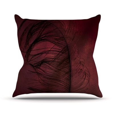 Plumtickled by Robin Dickinson Throw Pillow Size: 18 H x 18 W x 3 D