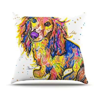 Leela by Rebecca Fischer Daschund Throw Pillow Size: 18