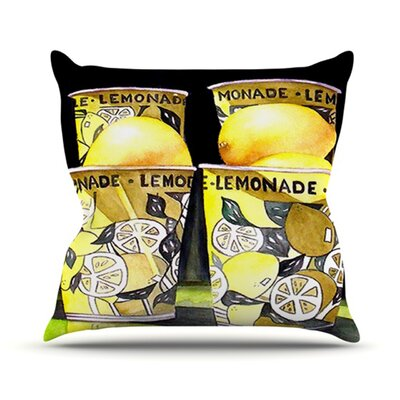 Lemonade Throw Pillow Size: 20 H x 20 W