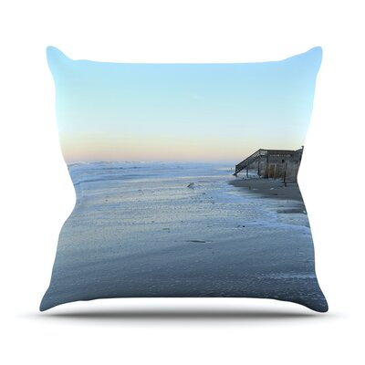 Sand Surf Sunshine by Robin Dickinson Beach Throw Pillow Size: 18 H x 18 W x 3 D