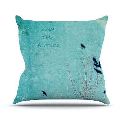 Love One Another by Robin Dickinson Birds Throw Pillow Size: 20 H x 20 W x 4 D
