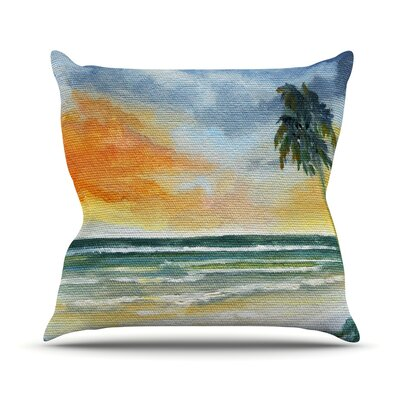 End of Day by Rosie Brown Beach Throw Pillow Size: 26 H x 26 W x 5 D