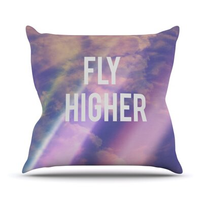 Fly Higher Throw Pillow Size: 26 H x 26 W
