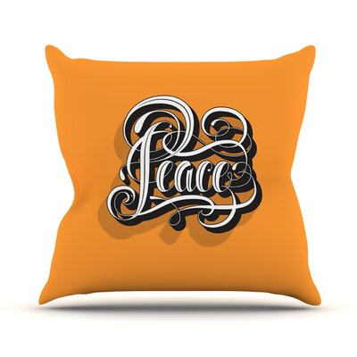 Peace by Roberlan Throw Pillow Size: 20 H x 20 W x 4 D