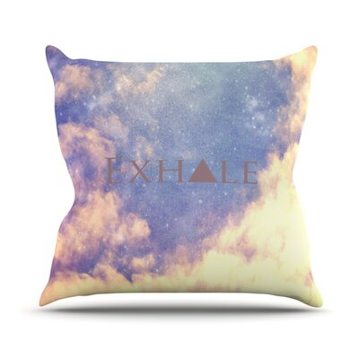 Exhale Throw Pillow Size: 18 H x 18 W