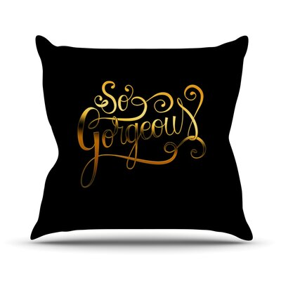 So Gorgeous by Roberlan Throw Pillow Size: 26 H x 26 W x 5 D