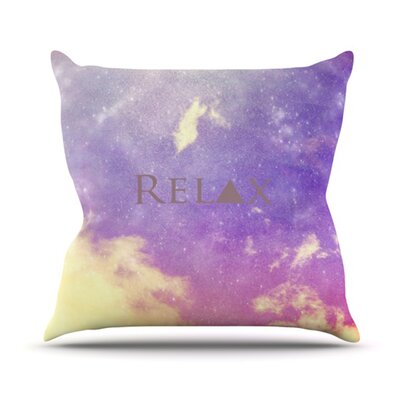 Relax Throw Pillow Size: 18 H x 18 W