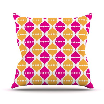 Moroccan Dreams by Apple Kaur Designs Throw Pillow Size: 16 H x 16 W x 3 D