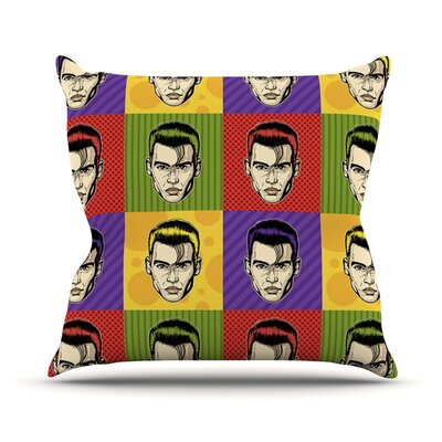 Johnny Depop by Roberlan Pop Art Throw Pillow Size: 18 H x 18 W x 3 D
