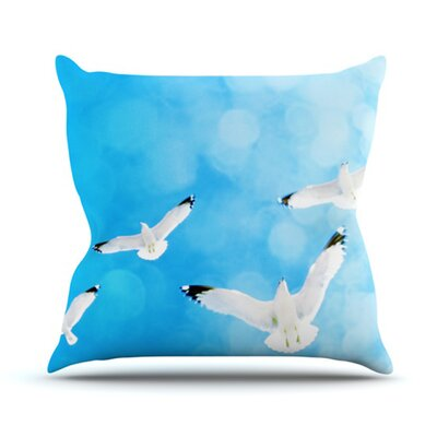 Fly Free by Robin Dickinson Birds Sky Throw Pillow Size: 20 H x 20 W x 4 D