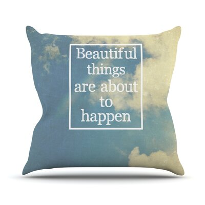 Beautiful Things by Rachel Burbee Sky Clouds Throw Pillow Size: 20 H x 20 W x 4 D