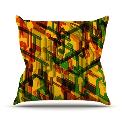 Three Dee by Roberlan Throw Pillow Size: 16 H x 16 W x 3 D