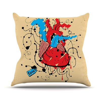 Heart by Roberlan Throw Pillow Size: 26 H x 26 W x 5 D