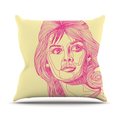 Bardot by Roberlan Girl Throw Pillow Size: 20 H x 20 W x 4 D