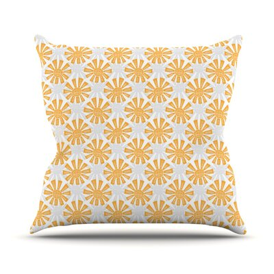 Sunburst by Apple Kaur Designs Throw Pillow Size: 18 H x 18 W x 3 D