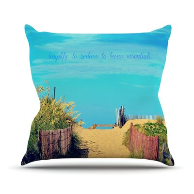 Simplify by Robin Dickinson Beach Sky Throw Pillow Size: 18 H x 18 W x 3 D