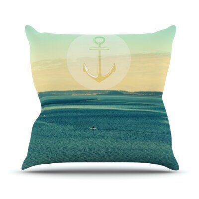 Row Your Own Boat by Robin Dickinson Throw Pillow Size: 20 H x 20 W x 4 D