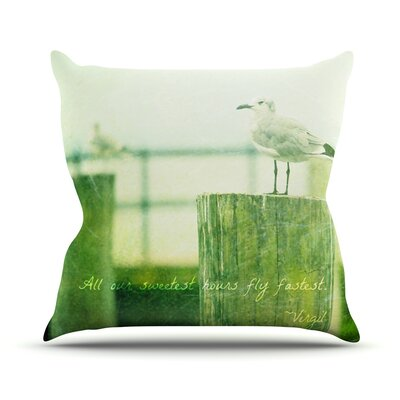 Sweetest Hours by Robin Dickinson Seagull Throw Pillow Size: 16 H x 16 W x 3 D