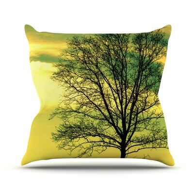 Tree Sky by Robin Dickinson Throw Pillow Size: 18 H x 18 W x 3 D