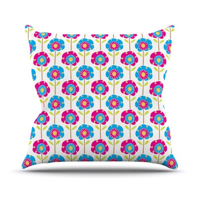 Lolly Flowers by Apple Kaur Designs Throw Pillow Size: 20 H x 20 W x 4 D