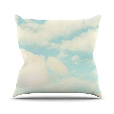 Clouds by Sylvia Cook Throw Pillow Size: 18 H x 18 W x 3 D