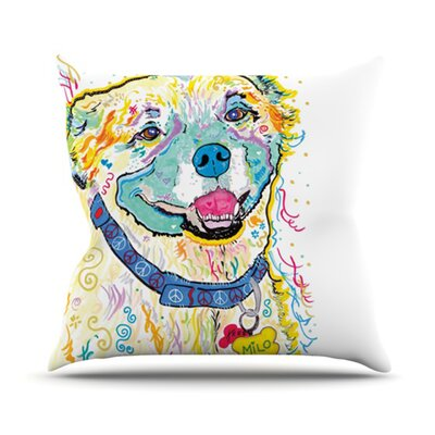 Milo Throw Pillow Size: 18 H x 18 W