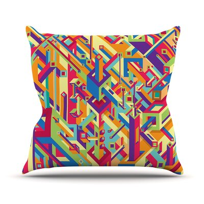 Buracos by Roberlan Abstract Throw Pillow Size: 26 H x 26 W x 5 D
